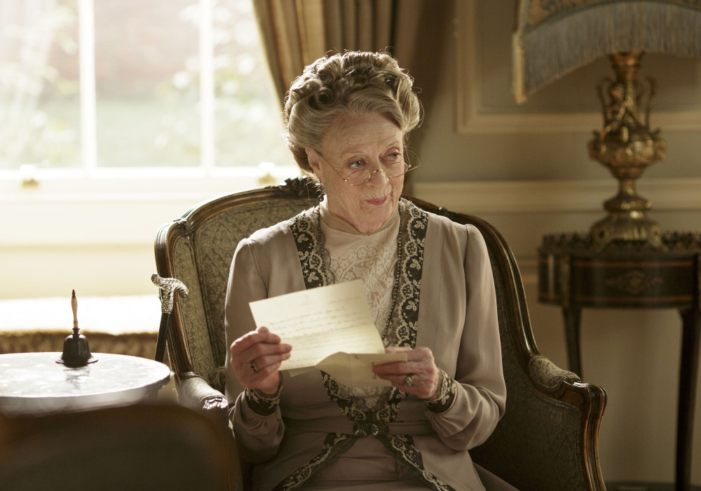 "Maggie Smith was nominated for outstanding supporting actor in a drama series for her role as Violet, dowager countess of Grantham, in ""Downton Abbey."""