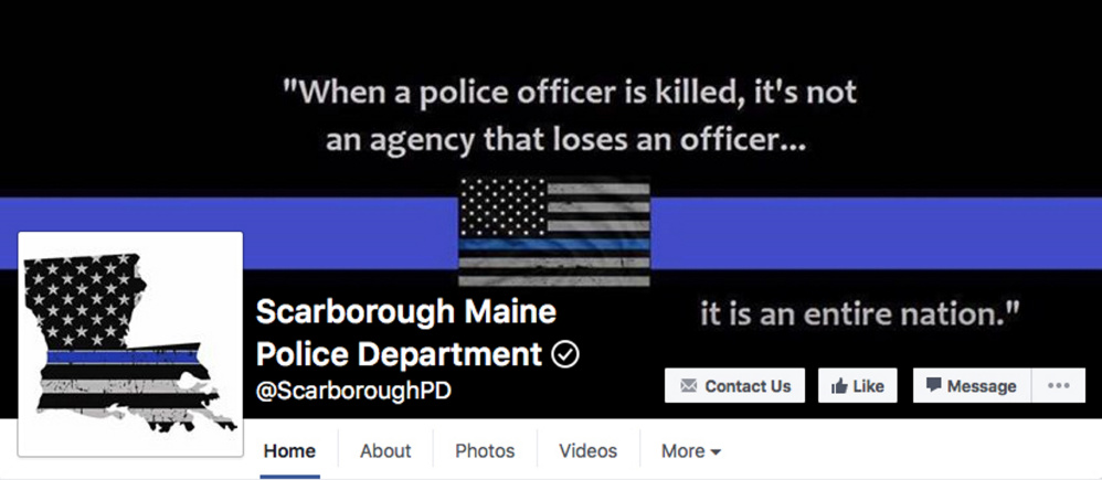A screen grab of a picture on the Scarborough Police Department's Facebook page.