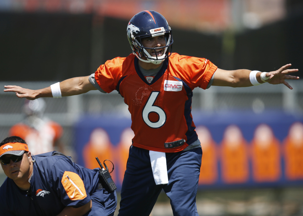 Once seen as the future of the New York Jets, Mark Sanchez played sparingly in two seasons with the Eagles before an offseason trade to Denver, where he is one of three quarterbacks vying to replace retired great Peyton Manning.