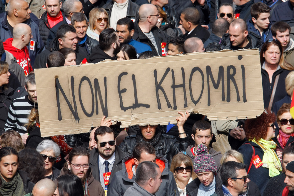 This protest in Marseille, France, in March was one of many against a divisive labor bill that was forced through the French Parliament on Wednesday without a vote.