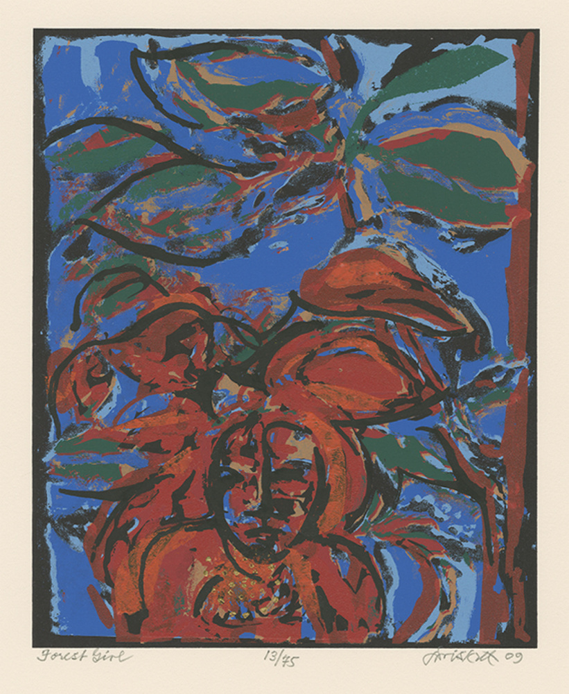 """David C. Driskell, """"Forest Girl,"""" 2008, seriagraph."""