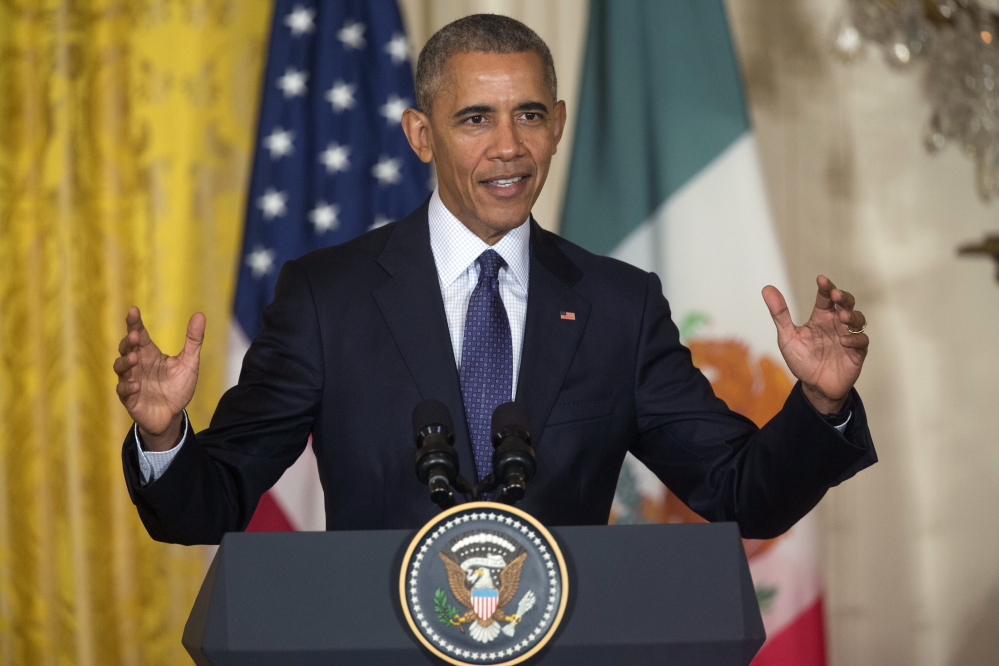 Observers say President Obama is feeling looser in his last year and relishing the chance to get on the campaign trail and speak out strongly against Donald Trump.