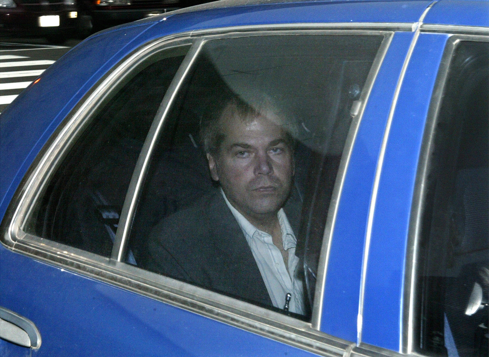 John Hinckley Jr. arrives at U.S. District Court in Washington in this 2003 file photo. A judge says Hinckley, who attempted to assassinate President Ronald Reagan will be allowed to leave a Washington mental hospital and live full-time in Virginia.