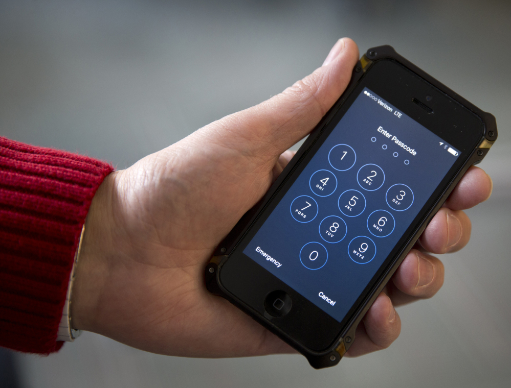 Though iPhones like this one have significant security systems, the U.S. government found a third-party expert who could unlock a phone used by one of the San Bernardino shooters. That shows that no safeguard is insurmountable.