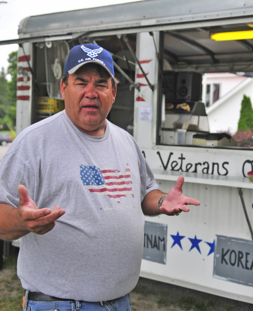 John Brennan, a Gulf War veteran, is upset that the Winthrop American Legion's lunch wagon was vandalized.