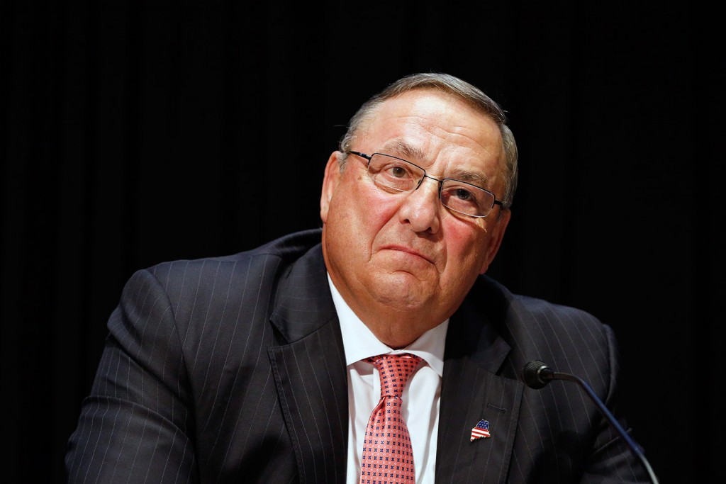 Gov. Paul LePage made a challenge and letter writers responded. The Associated Press/Michael Dwyer