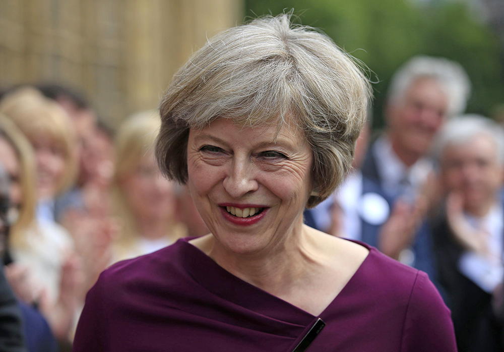 Conservative Party Home Secretary Theresa May will become Britain's next prime minister when Queen Elizabeth gives her formal blessing on Wednesday. Jonathan Brady/PA via AP