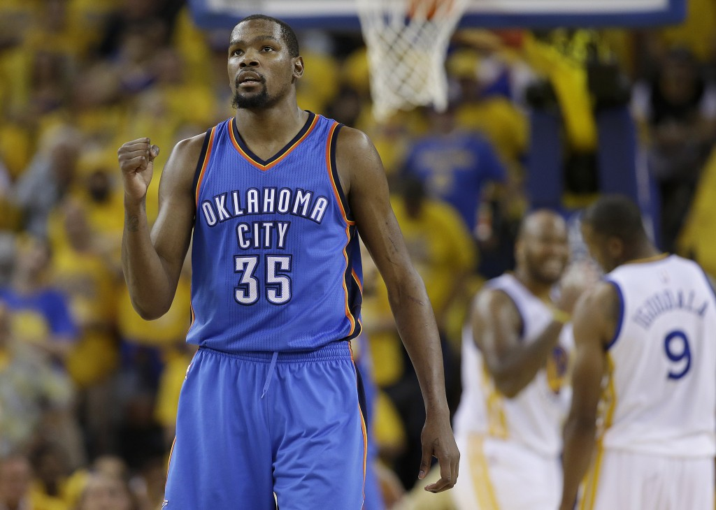 Kevin Durant shouldn't be chastised for choosing to play for a better team, with players he wants as teammates.   Associated Press /Marcio Jose Sanchez