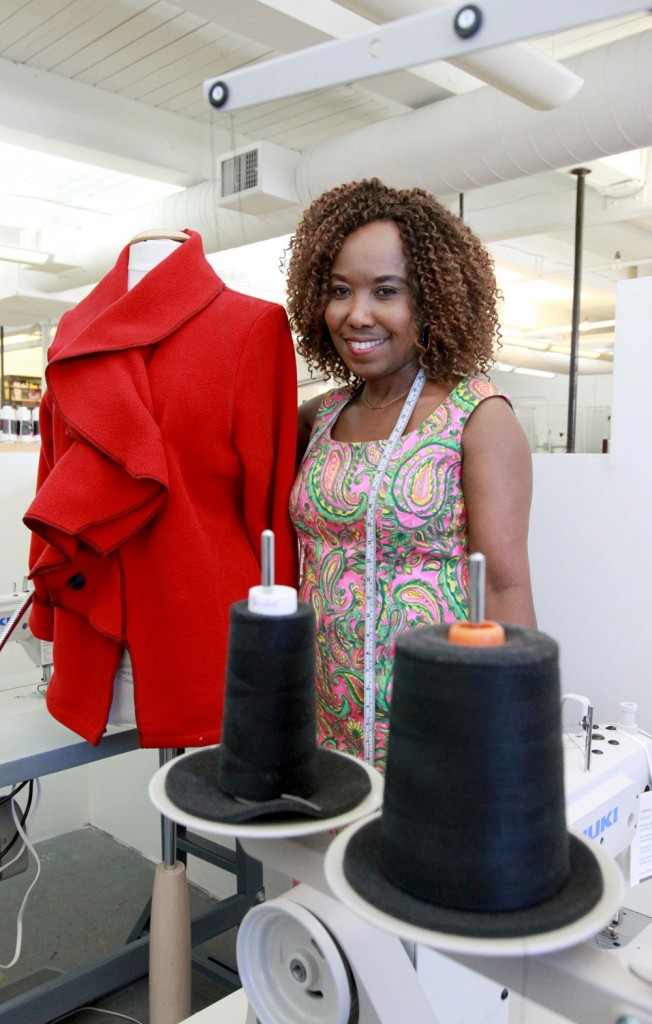 A high-end fashion designer in the Democratic Republic of the Congo before moving to Maine in 2000, Adele Marengo Ngoy operates her design business in Portland, manages the alterations department at David's Bridal, and founded Women United Around the World in 2009.
