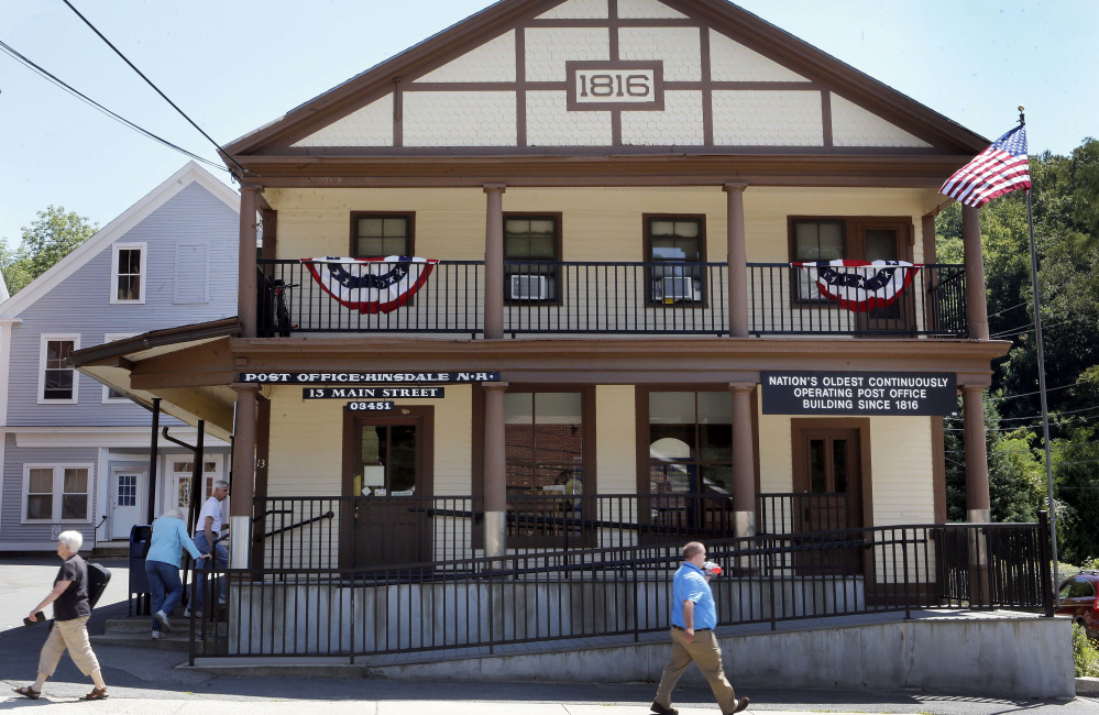 The unchanging character of the Hinsdale Post Office in New Hampshire is a bright spot for the small town, as many local businesses have shut down. It also serves as a gathering place.