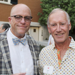 Museum trustees Cyrus Hagge of Portland and Jeff Kane of Falmouth.