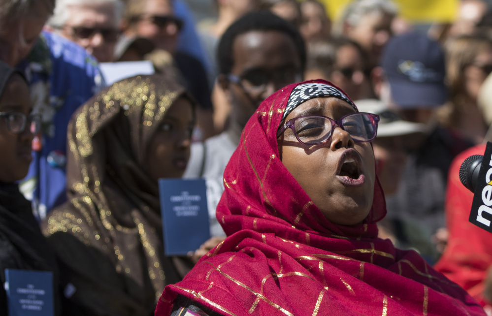 """Deqa Dhalac, one of the leaders at the Somali Community Center of Maine, said of Donald Trump's comments about Somali immigrants: """"We condemn in the strongest terms such name calling, scapegoating and lies."""""""