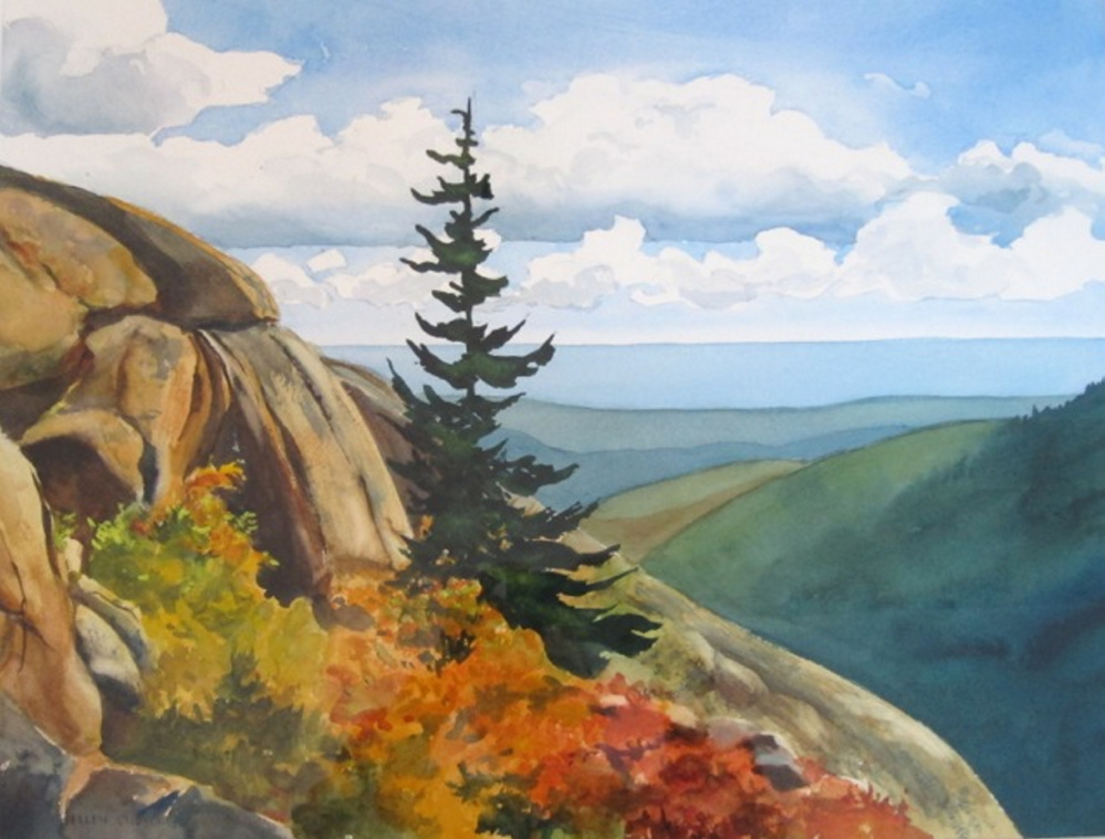 """""""Acadian Song"""" by Ellen Church is among the works on view in """"A Fresh Field of Light: Artists, Naturalists and the Vision for Acadia,"""" on view through September at MDI Biological Laboratory in Bar Harbor."""