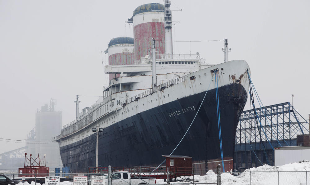 The cruise ship SS United States, which once crossed the Atlantic at record speeds, has been rusting in Philadelphia.