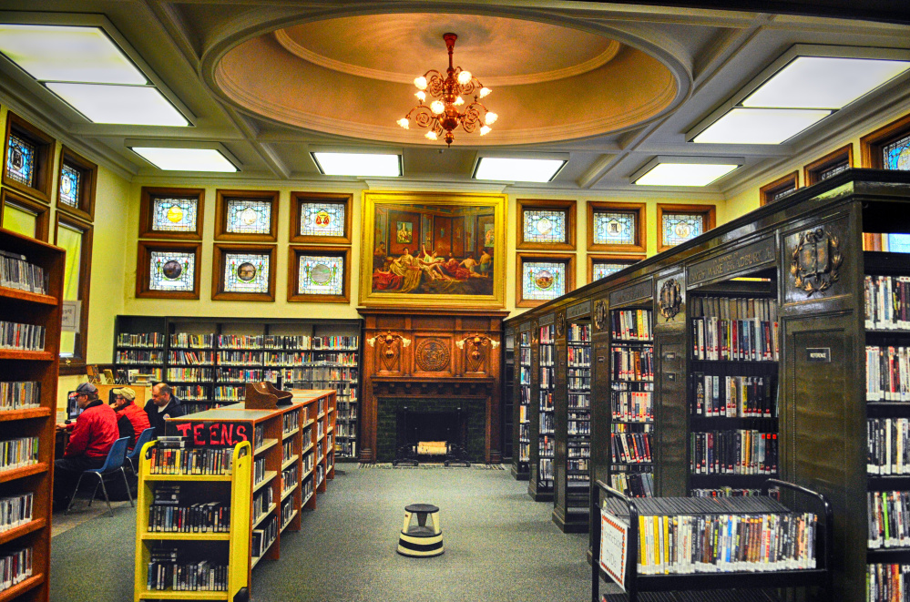 The stacks room of Augusta's Lithgow Public Library on April 11, 2015, before renovation.
