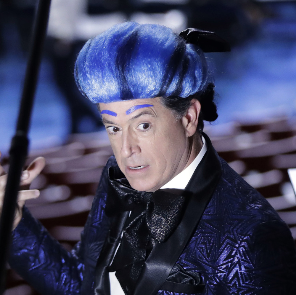 Stephen Colbert appears at the Democratic National Convention in Philadelphia on July 24.