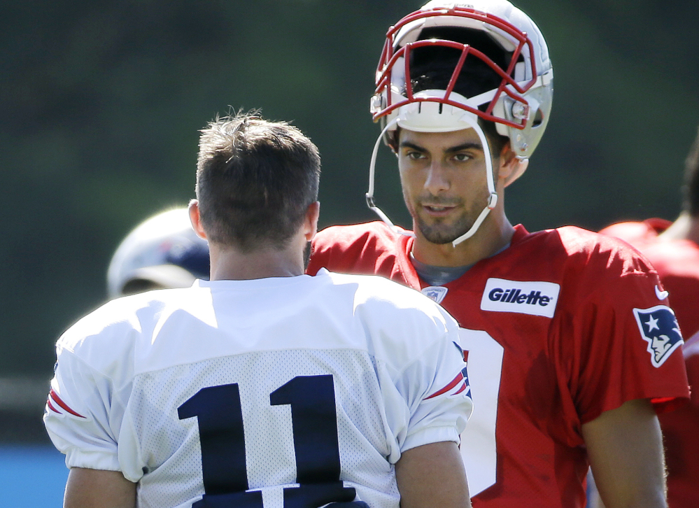 Jimmy Garoppolo can finally look to Julian Edelman, 11, as one of his prime targets this fall as he'll have the chance to start while Tom Brady serves a four-week suspension stemming from 2015's