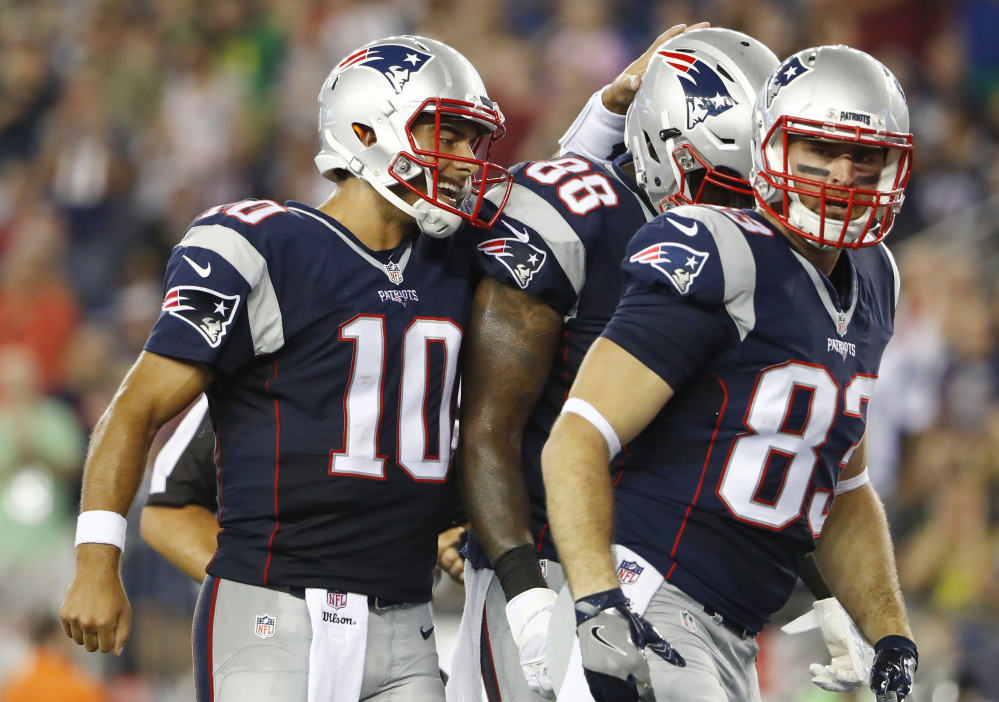 Patriots quarterback Jimmy Garoppolo, playing in the preseason game Aug. 11 against the New Orleans Saints, didn't play last week against the Giants and now faces his first NFL start.