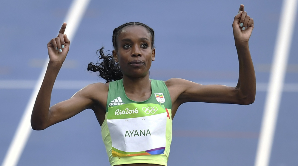 Almaz Ayana ran like a machine Friday to win the women's 10,000, but some wonder what helped propel the machine. She's from Ethiopia, which has been under a doping cloud.
