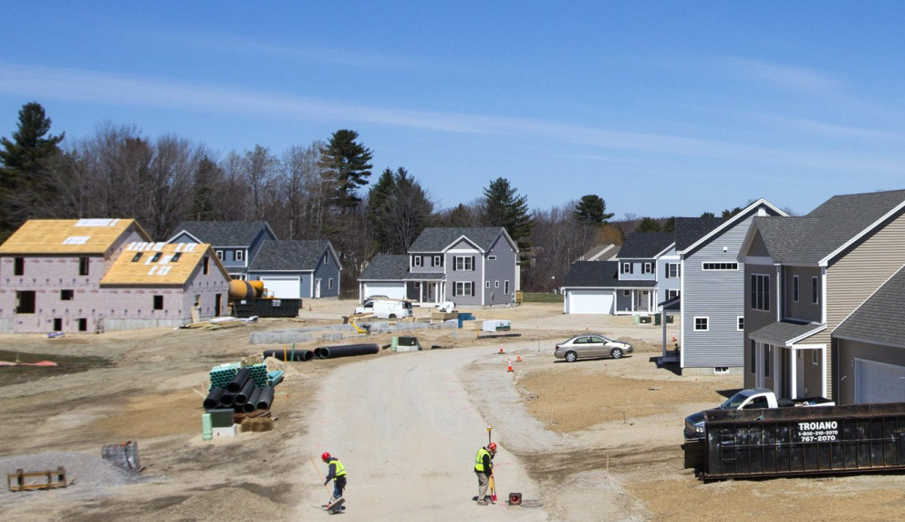 WESTBROOK, ME - APRIL 14: Construction at Blue Spruce Farm in Westbrook. (Photo by Derek Davis/Staff Photographer)