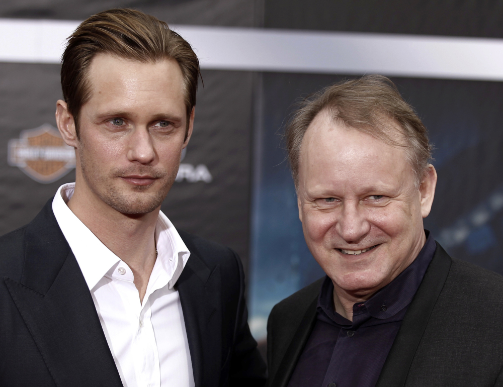 Stellan Skarsgard, right, is proud of how his sons, among them Alexander, act on and off the screen.