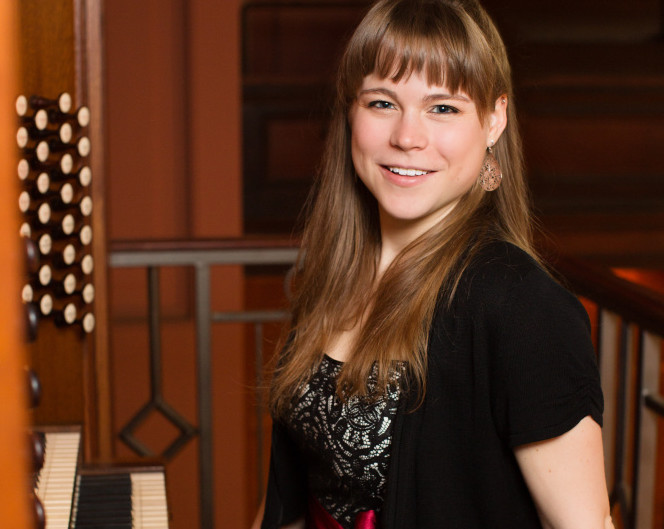 Organist Katelyn Emerson of York is on target to become one of her generation's most prominent organists, says the reviewer of her concert at Merrill Auditorium on Tuesday.