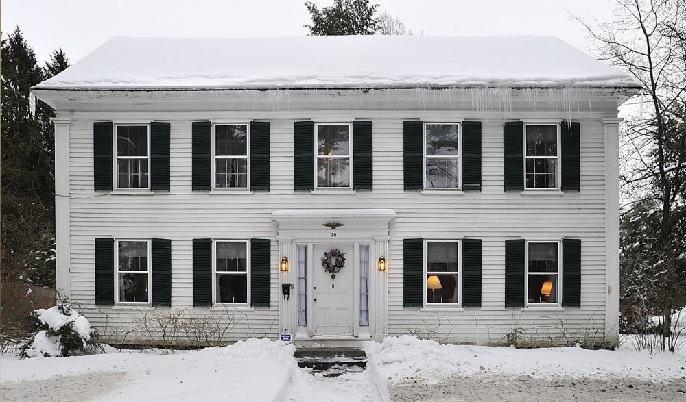 Armed with right of first refusal, Bowdoin College is suing to stop the sale of the home at 28 College St. in Brunswick. Its owner says Harriet Beecher Stowe rented a room here to write.