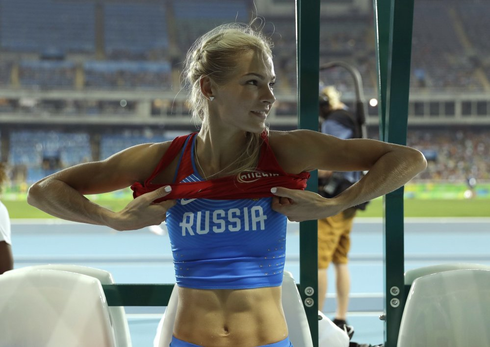 Darya Klishina leaves the long jump finals at Olympic stadium in Rio de Janeiro Wednesday. She placed ninth, saying her legal case affected her effort, but she vowed to train for 2020.