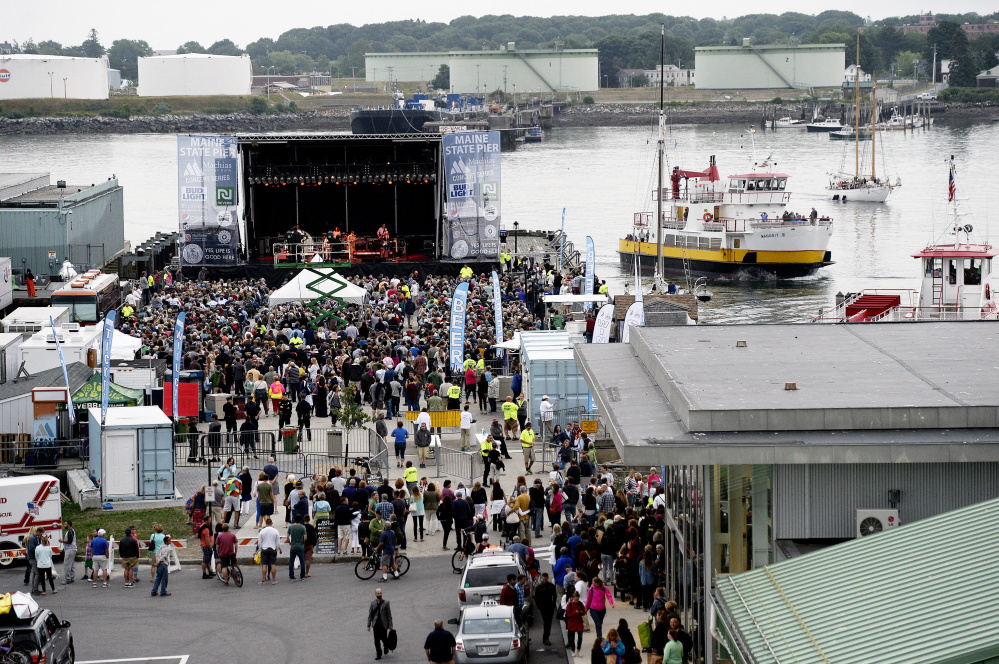 The Beach Boys play at the Maine State Pier on July 7. Portland's Paula Agopian, who lives on Monument Street, says concerts on the pier are too noisy.