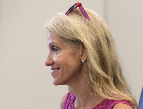 In an interview on CNN Tuesday, Kellyanne Conway, campaign manager for Republican presidential candidate Donald Trump,  did not offer any evidence of new donations by the candidate. <em>Gerald Herbert/Associated Press</em>