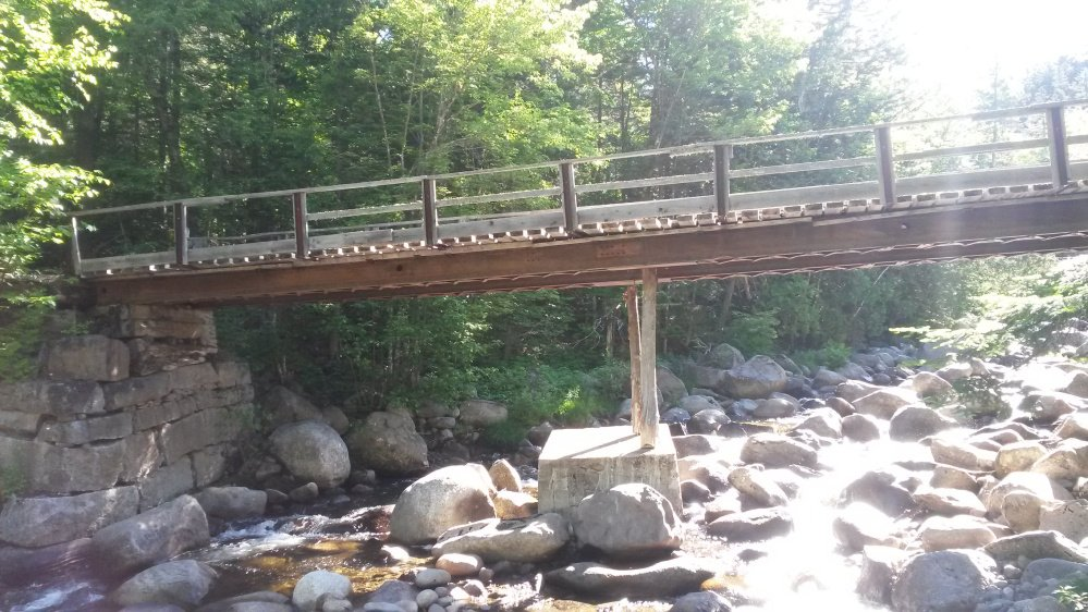 The former Perham Stream Bridge, which was washed out in 2011 by Tropical Storm Irene.