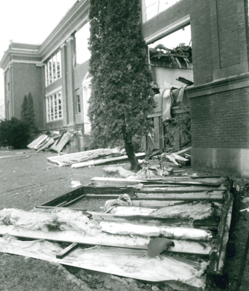 Madison High School was gutted by a fire in October 1986. Toby Thibeault, 15, of Madison was later charged with the fire and another one at Carrabec High School and was tried in early 1987 as a juvenile.