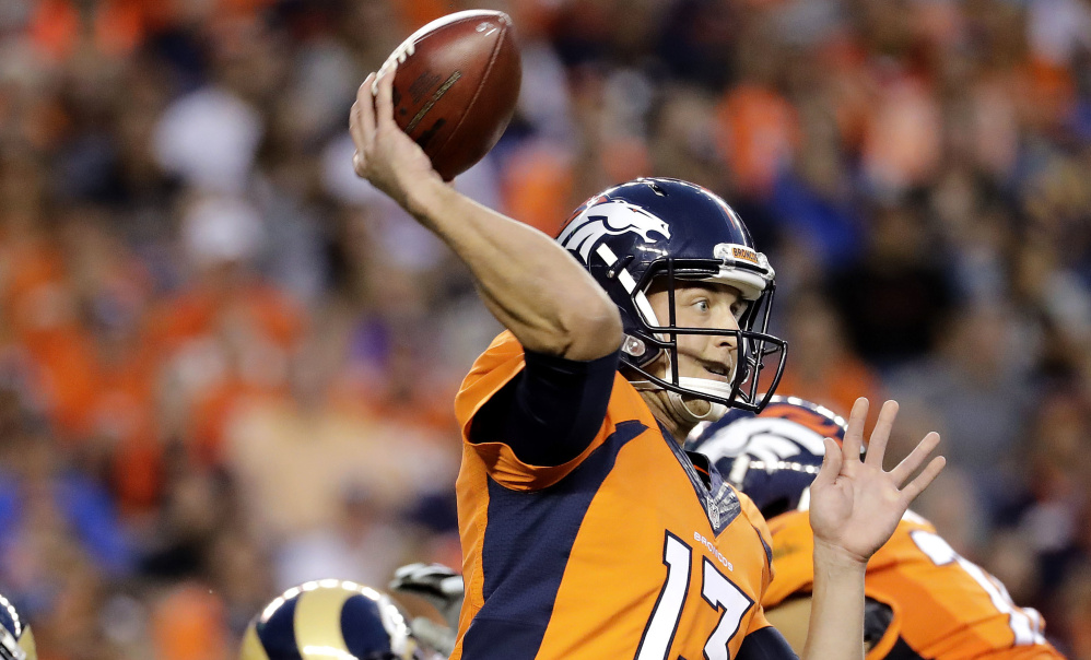 Trevor Siemian, who has one NFL snap on his resume – a kneel down, was named the Denver Broncos starting quarterback on Monday.