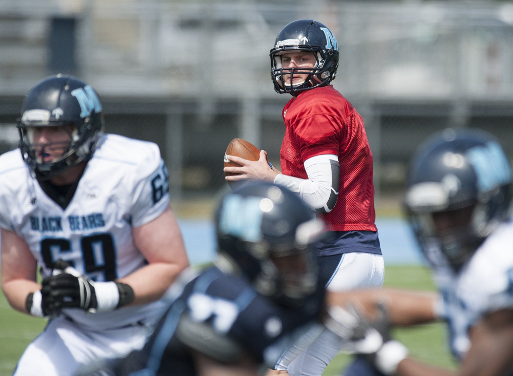 Dan Collins will guide the UMaine offense at Connecticut after winning the quarterback job in preseason.