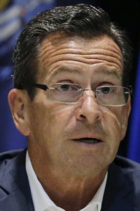 Connecticut Gov. Dannel P. Malloy speaks during a news conference after a meeting of the New England's governors and eastern Canada's premiers to discuss closer regional collaboration, Monday, Aug. 29, 2016, in Boston. (AP Photo/Elise Amendola)