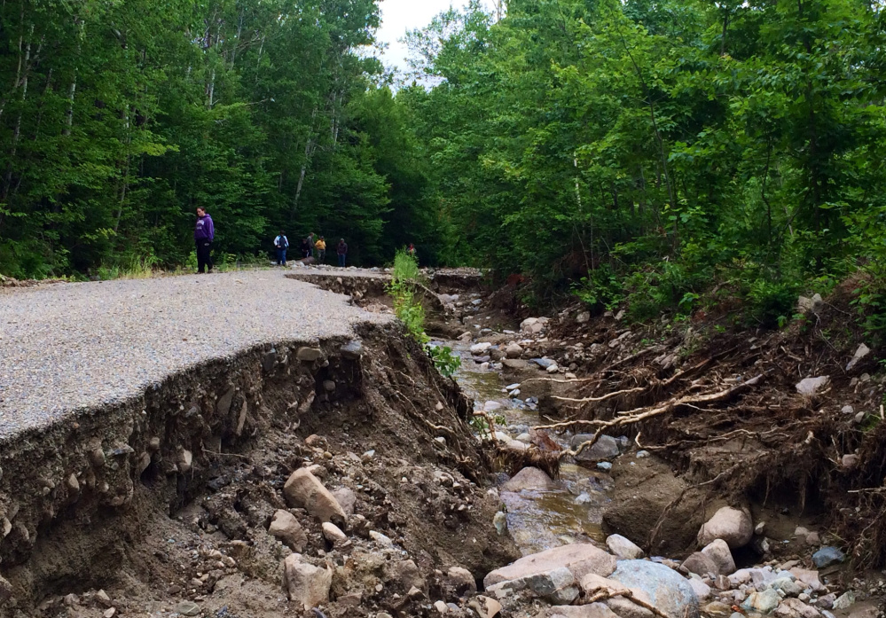 No Road is one of the most severely damaged roads. The owners' association already has made the road passable, but they are looking at another $50,000 in repairs.