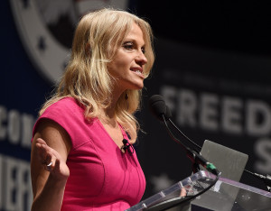 Kellyanne Conway speaks at the Freedom Summit, in Greenville, S.C., in this 2015 file photo. Republican Donald Trump promoted pollster Conway to campaign manager.