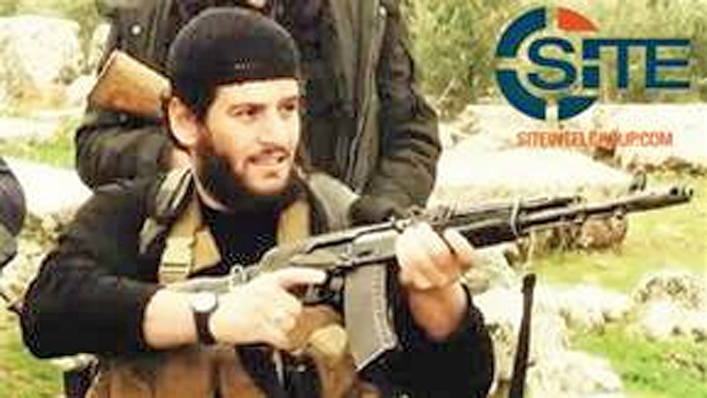 The Islamic State group says it spokesman, Abu Muhammed al-Adnani, was