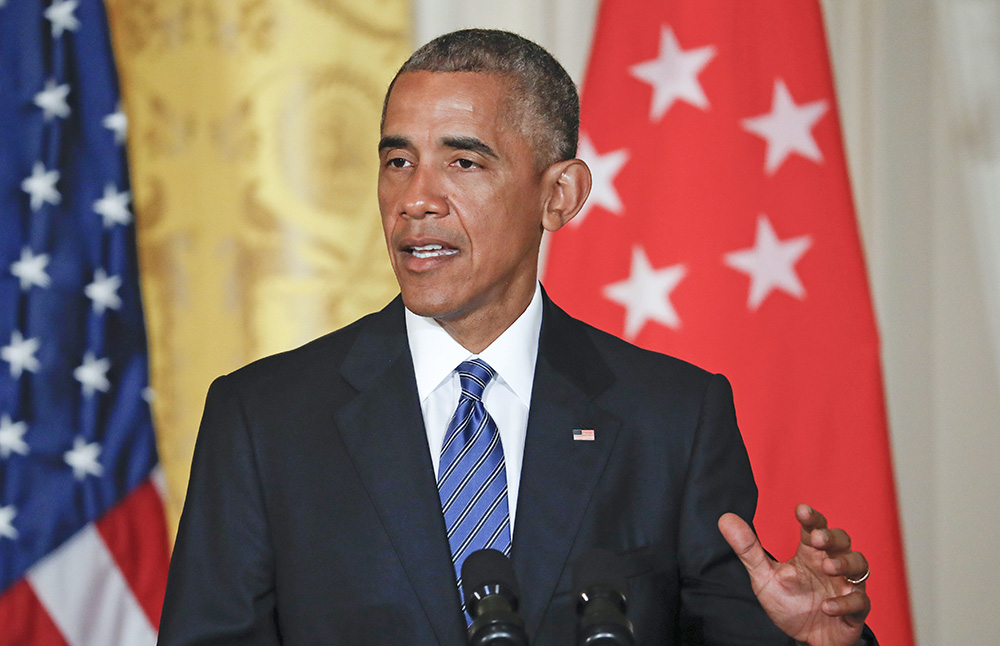 Responding to a reporter's question during a joint news conference with Singapore's Prime Minister Lee Hsien Loong on Tuesday. President Barack Obama challenged the Republican Party's support of Donald Trump: