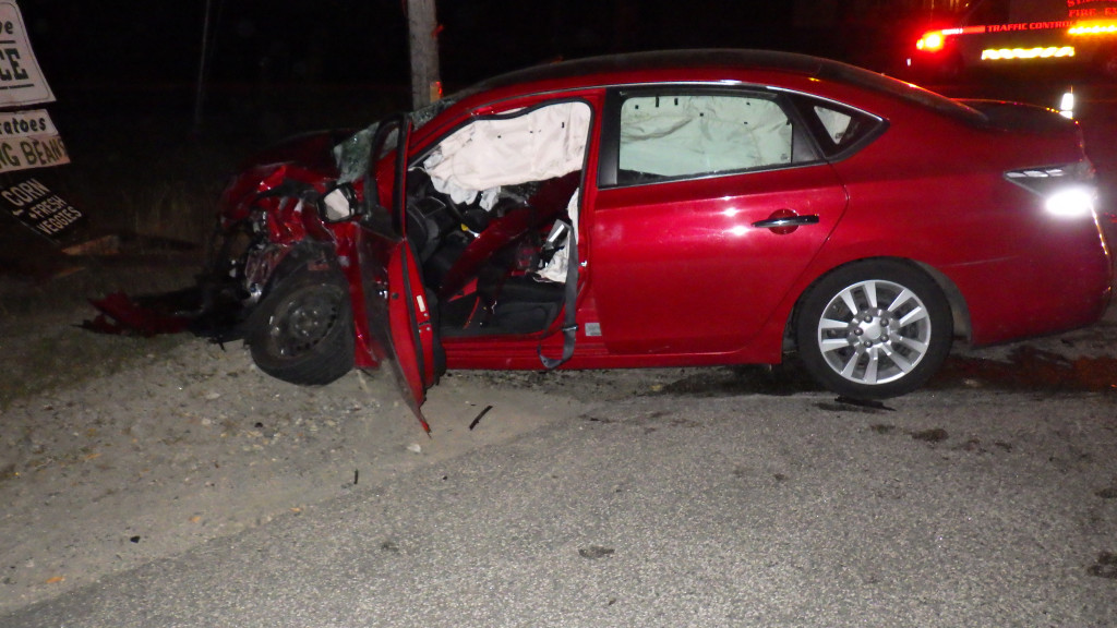 One of the cars involved in the crash that killed Arthur Ames on Saturday night Cumberland County Sheriff's Office