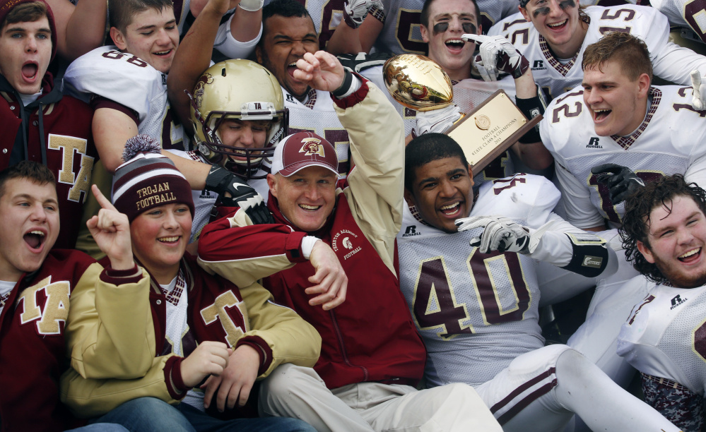 Thornton Academy Coach Kevin Kezal will be looking for the same resting place on the Saturday before Thanksgiving – with his players celebrating another Class A state championship. Kezal and the Golden Trojans will be seeking their fourth state title in five years.