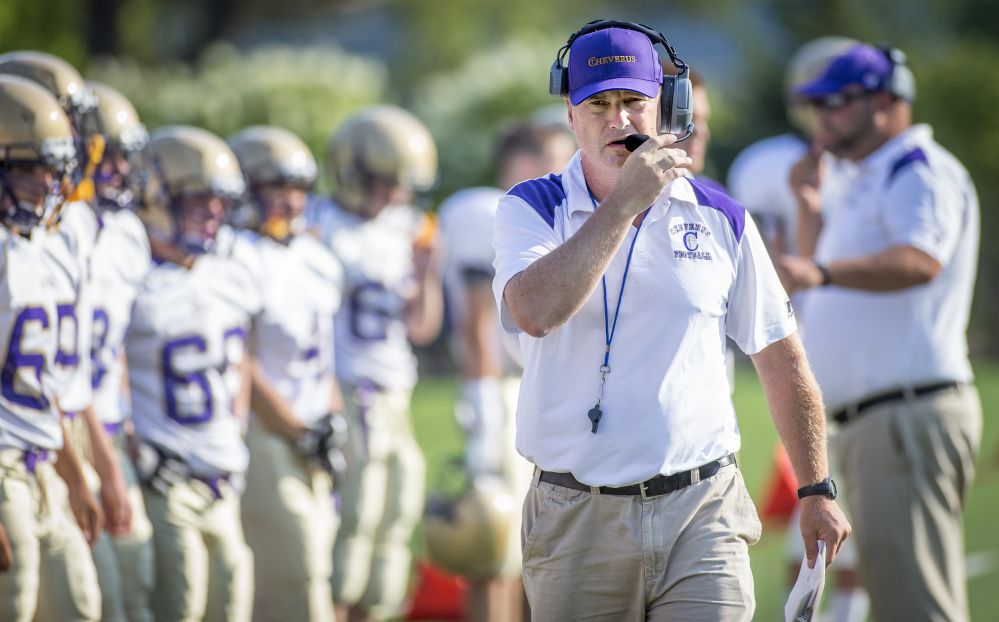 Mike Vance may be the new head football coach at Cheverus but he's not new to the school. Vance has been a defensive coordinator and junior varsity coach with the Stags since 2006.