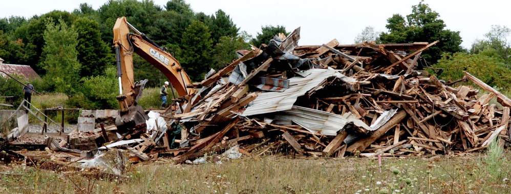 The 100-plus year old Masse sawmill, grist mill and dam was torn down last week to make way for the Masse Dam removal.