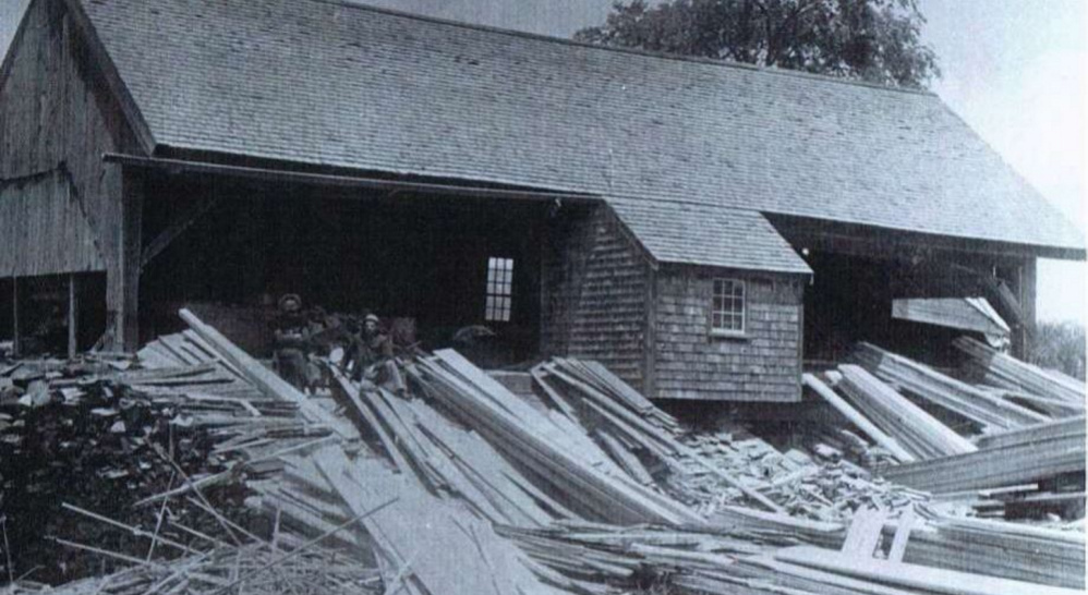 The Masse sawmill, in this undated photo, was once a thriving business on Outlet Stream.
