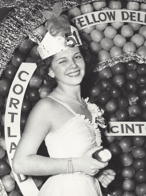 In her senior year at Gorham High School, Ann Moody in 1951 was crowned Maine's Apple Queen and represented the state at many events.
