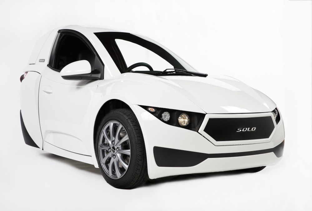 The 2017 Electra Meccanica Solo, three-wheeled, electric one-seater, could soon go on sale in the U.S. and Canada. The Solo's body is made from the same strong but lightweight aluminum composite as the floor on a Boeing 787. It is expected to sell for $15,500.