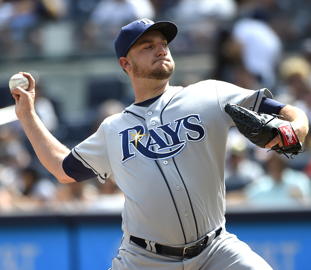 Matt Andriese of Tampa Bay allowed one run in five innings Sunday as the Rays ended the New York Yankees' seven-game winning streak with a 4-2 victory.