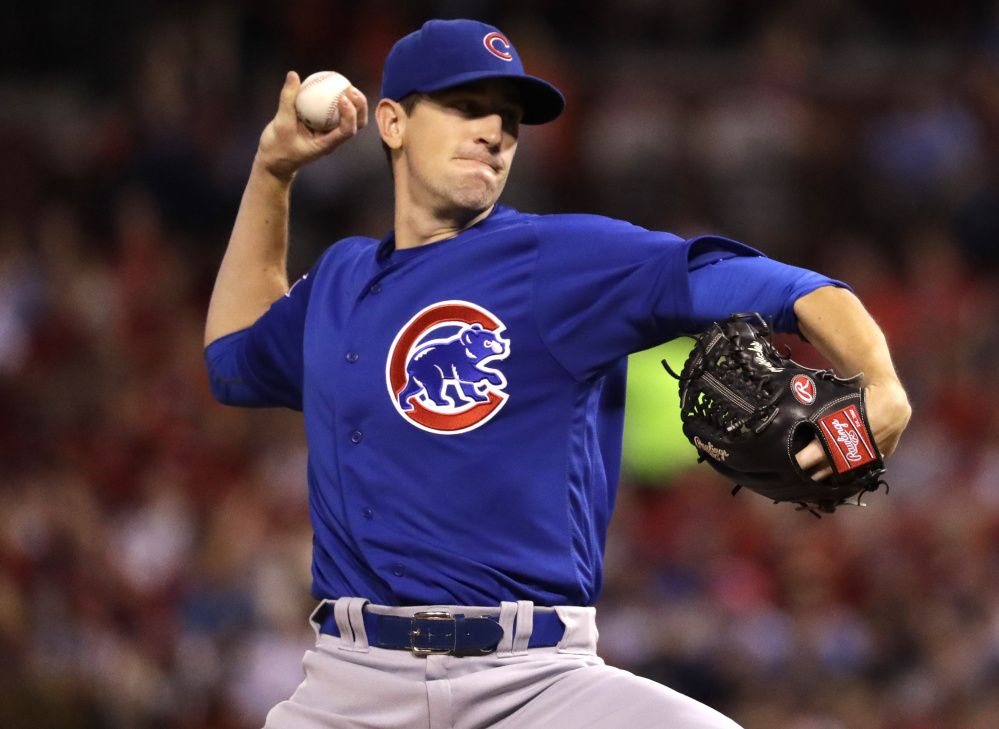 Cubs pitcher Kyle Hendricks came three outs away from a no-hitter against the Cardinals on Monday, allowing a leadoff homer in the ninth inning of a 4-1 win in St. Louis.