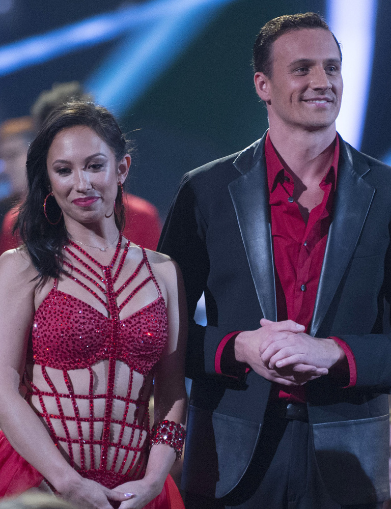 Cheryl Burke and Ryan Lochte appear on