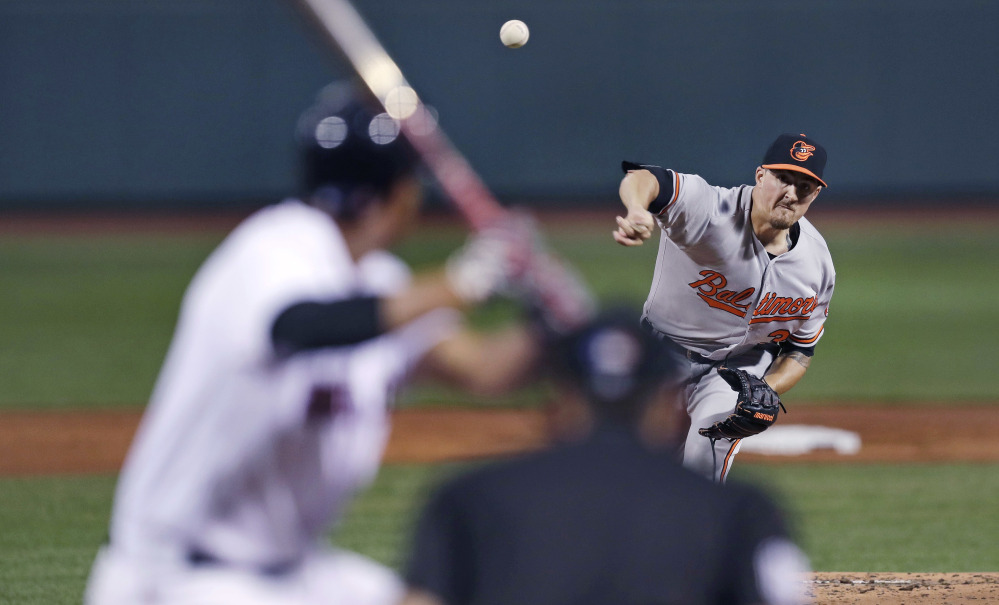 Baltimore starting pitcher Kevin Gausman threw eight shutout innings, allowing just four hits as the Orioles beat the Red Sox 1-0 to pull within one game in the AL East standings.